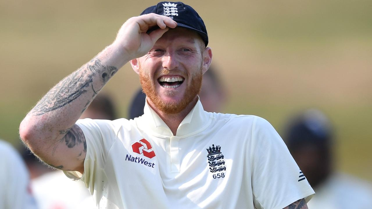 WHANGAREI, NEW ZEALAND - NOVEMBER 17: Ben Stokes of England laughs after drawing the tour match between New Zealand A and England at Cobham Oval on November 17, 2019 in Whangarei, New Zealand. (Photo by Gareth Copley/Getty Images)