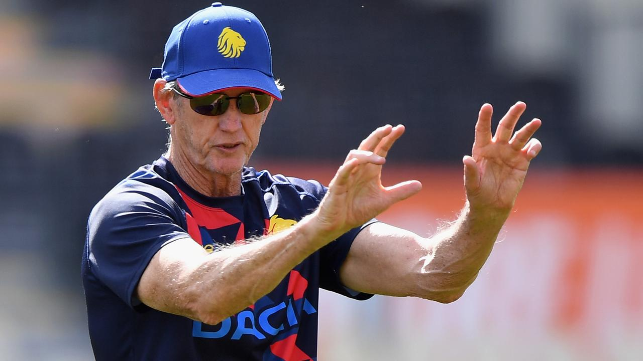 Wayne Bennett runs a Great Britain Rugby League Lions training session.