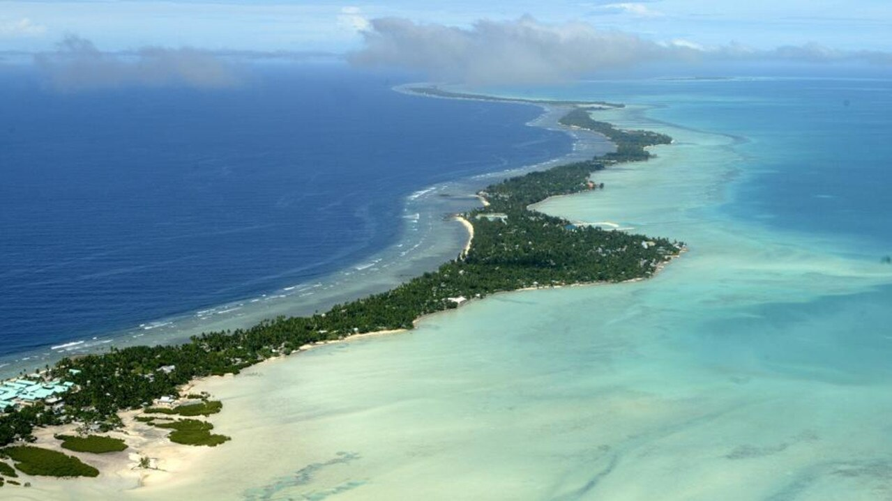 Kiribati becoming one of the latest Pacific nations to switch its allegiance to China. Picture: Richard Vogel