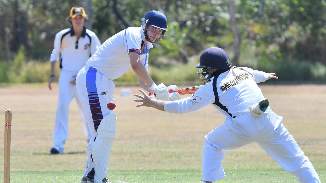 IN ACTION: Coolum's Clarry McCague against Caloundra. Photo: John McCutcheon/Sunshine Coast Daily