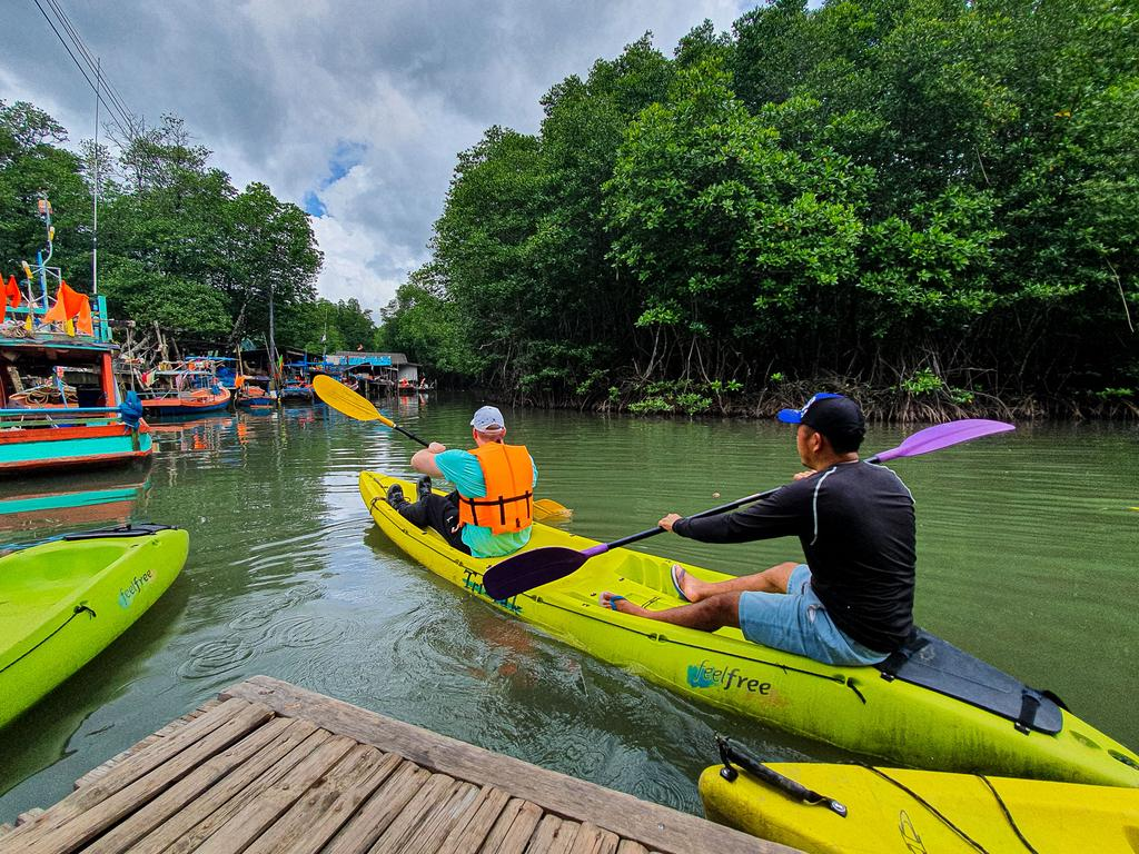Weekend activities include kayaking …