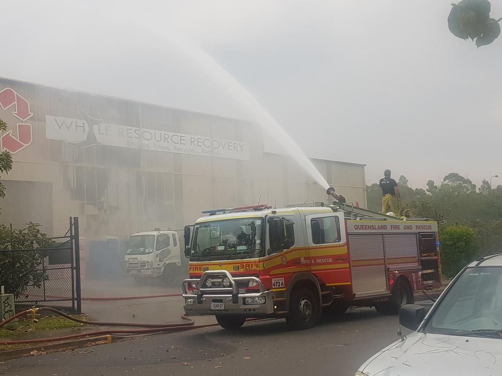 7 crews, excavator battle raging fire at Coast business - Sunshine Coast Daily