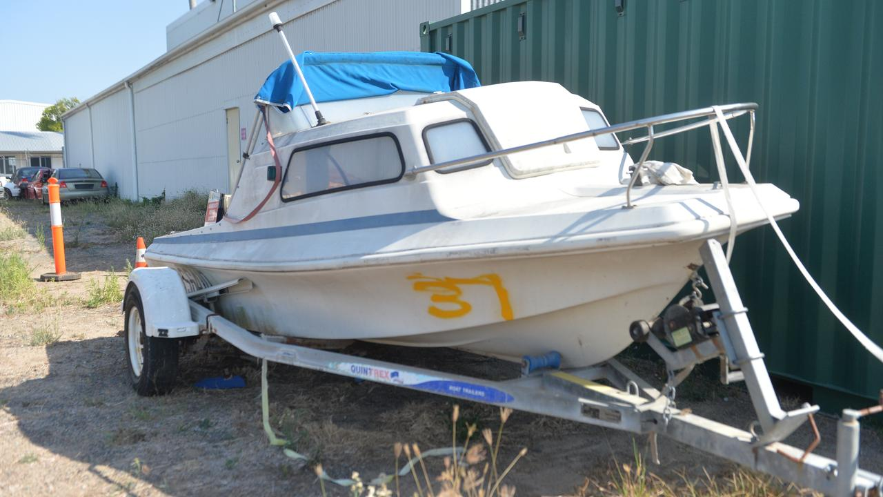This boat was at the public viewing abandoned vehicles, which will be auctioned off at Mackay Regional Council's Ness Street Depot.