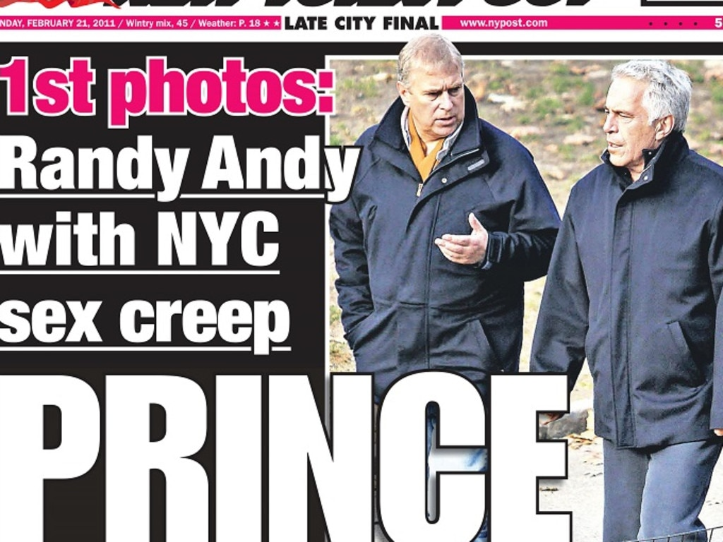 Photos of Andrew and Epstein's infamous walk. Picture: Supplied
