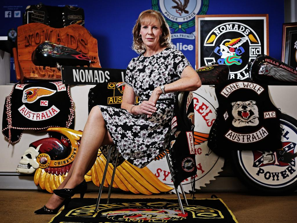 Detective Superintendent Deborah Wallace made life hell for the bikies. Picture: Sam Ruttyn