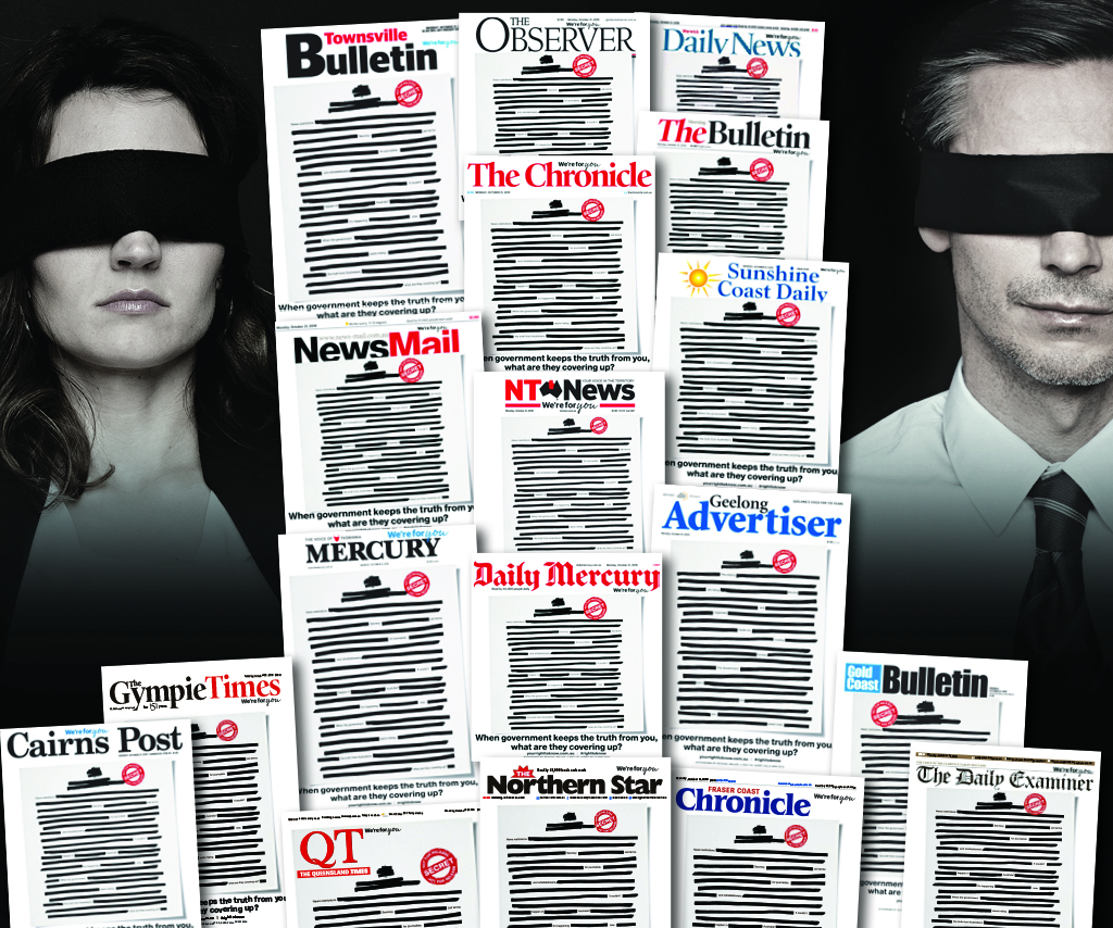 Media outlets Australia-wide are fighting for your right to know.