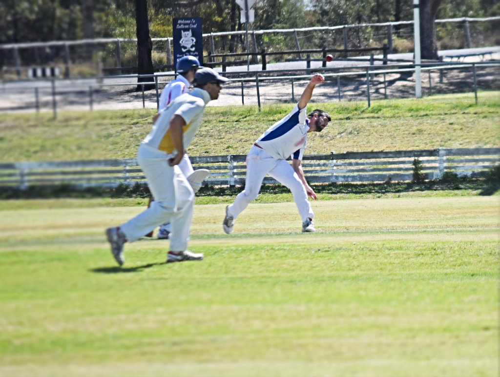 Image for sale: ANOTHER VICTORY: Cameron Crestani bowled 3 from 8 in Valleys win on the weekend.