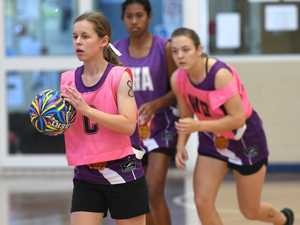 Grace Howard at the Capricorn Region Academy netball