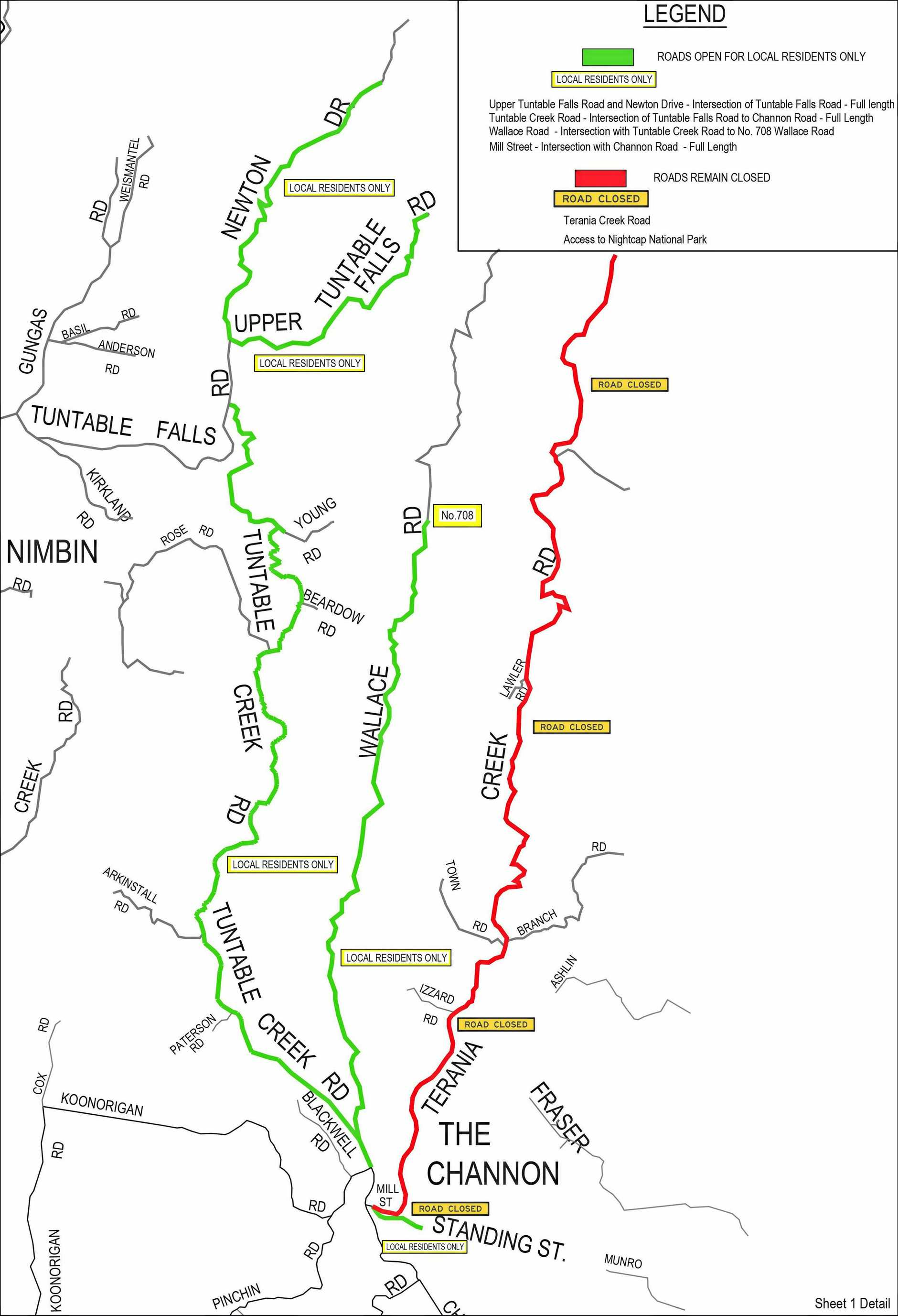 Roads remain closed due to fires.