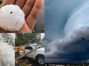 Wild hailstorm leaves trail of destruction across Coast