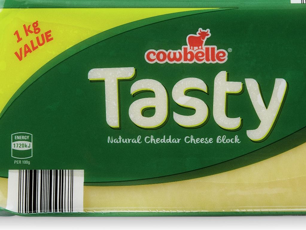 Winning products for ALDI People's Picks Awards for Australian shoppers' favourite items. Fridge, Dairy and Eggs: Cowbelle Tasty Block Cheese