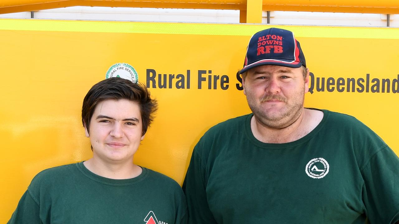 Mitch Simmons and Luke Frenken at the Alton Downs Rural Fire Brigade