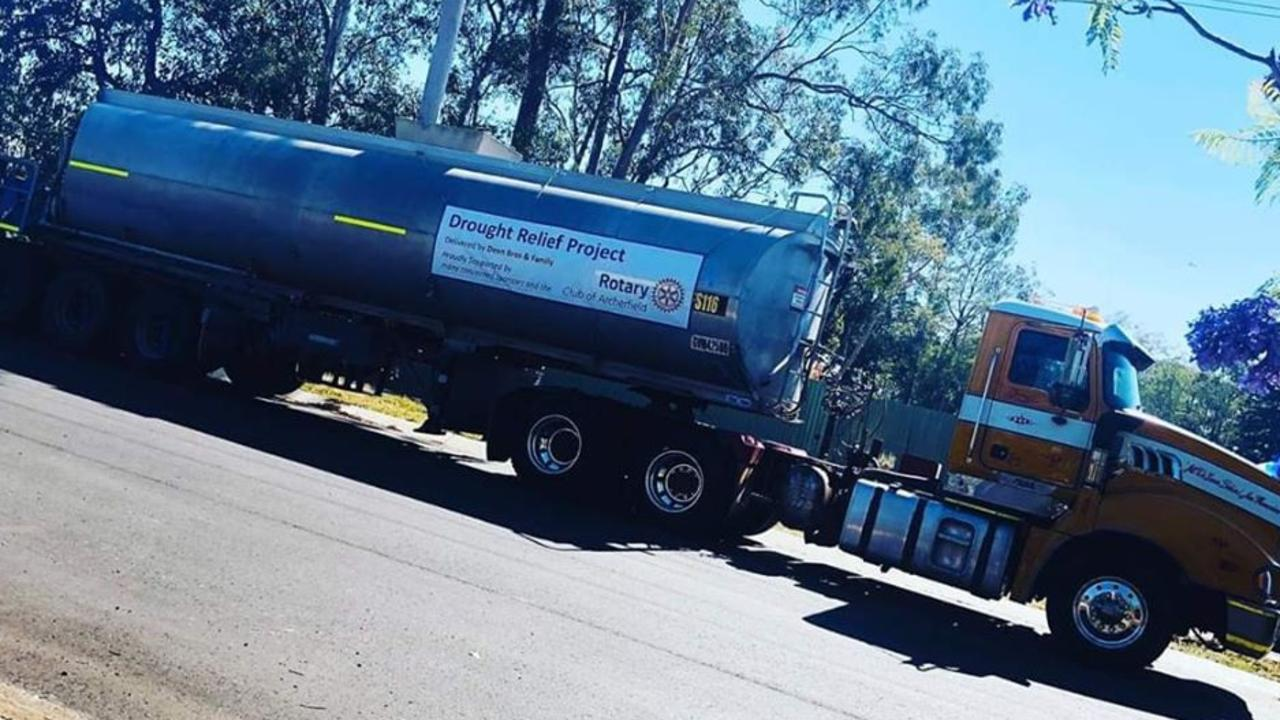 GOOD PEOPLE: Rotary Club of Archerfield has been organising water runs for suffering farmers in the Lockyer Valley.