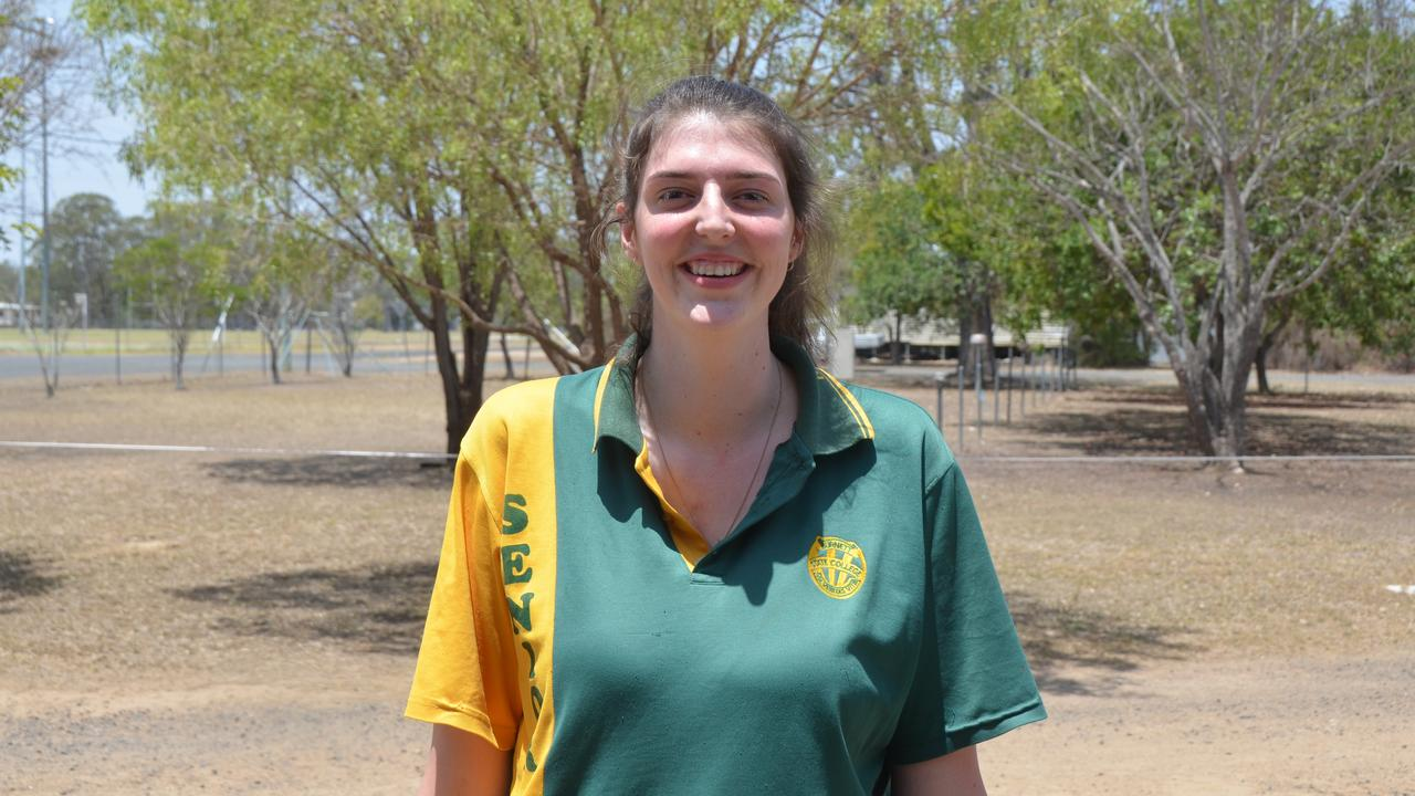 Georgia Laidler in the graduating class of 2019 for Burnett State College. Picture: Sam Turner.