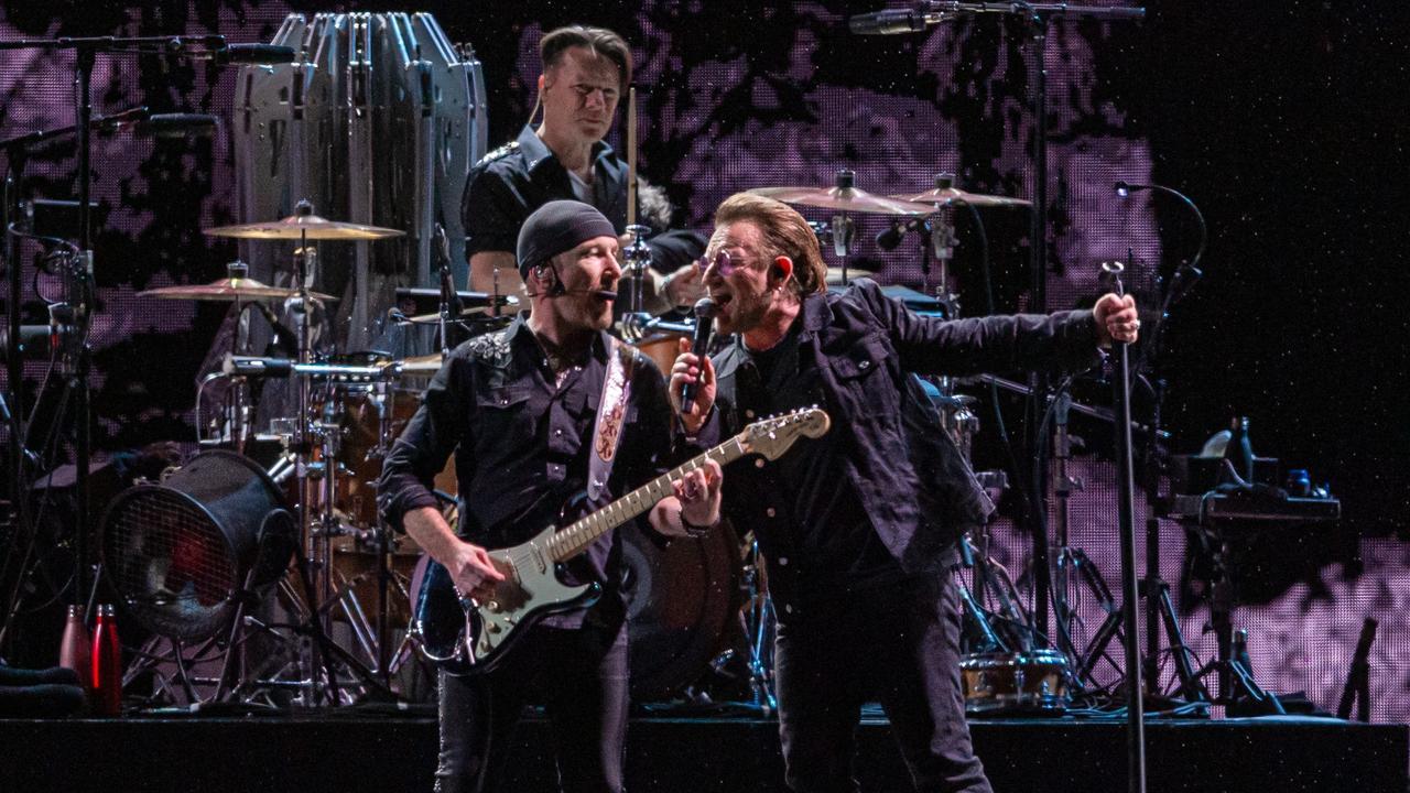 U2 are making their way around Australia on the Joshua Tree tour. Picture: Jason Edwards
