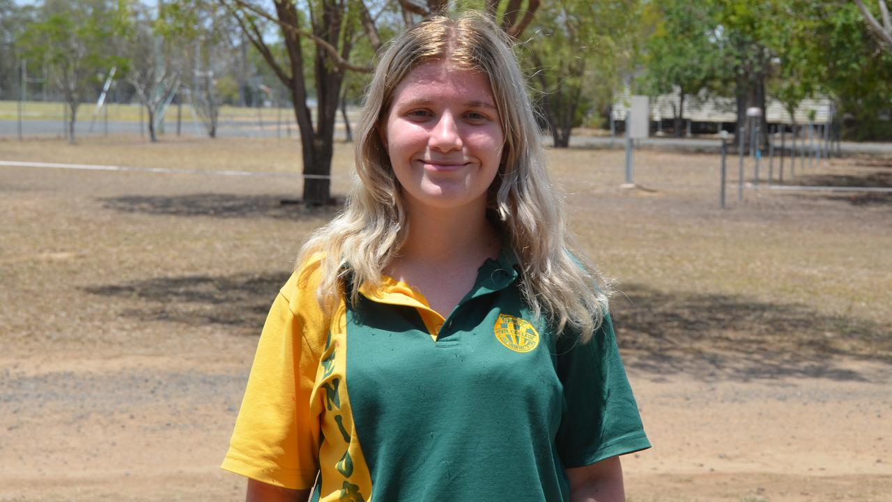 Haylee Cafe in the graduating class of 2019 for Burnett State College. Picture: Sam Turner.