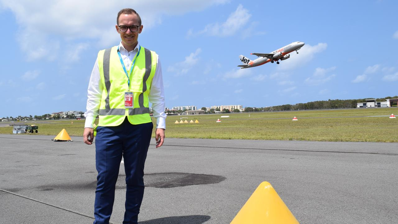 VISION: Sunshine Coast Airport's new aviation business development general manager Gareth Williamson has outlined the plan to increase destinations and attract airlines.