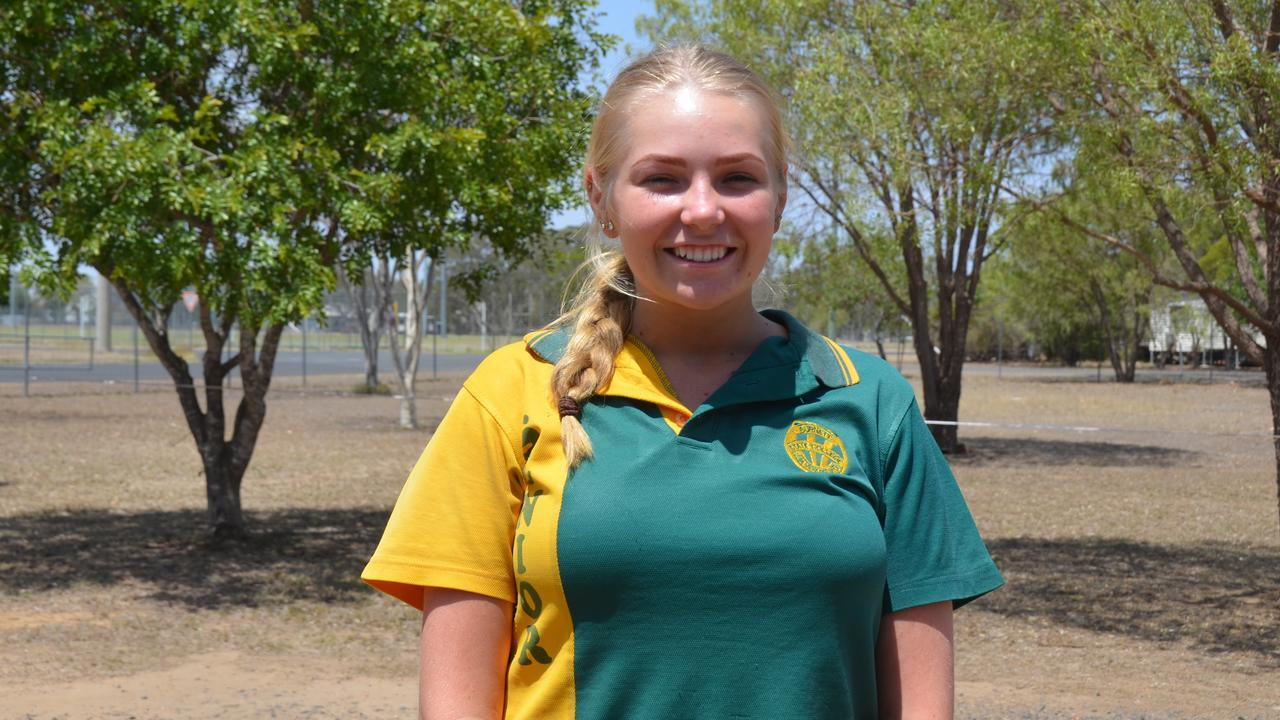 Zoe Rolls in the graduating class of 2019 for Burnett State College. Picture: Sam Turner.