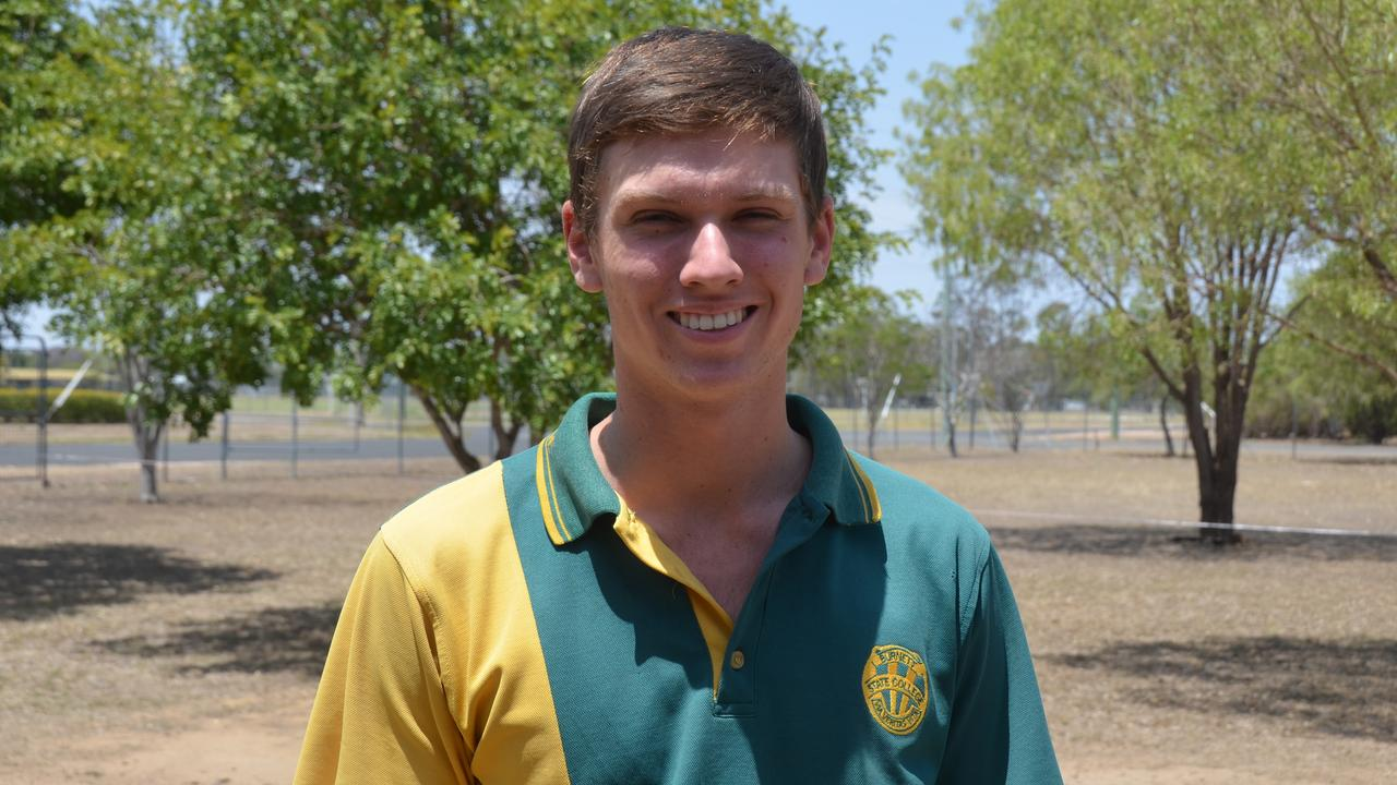 Jeremy Corfield in the graduating class of 2019 for Burnett State College. Picture: Sam Turner.