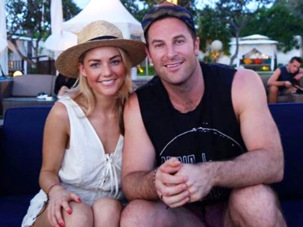 Sam Frost and former boyfriend Sasha Mielczarek in Bali. Picture: Instagram