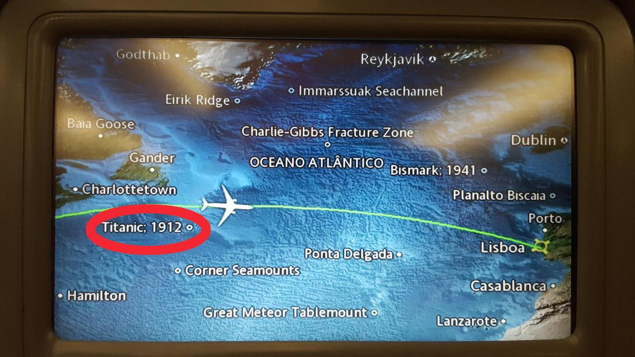 People are noticing an unsettling detail on the live maps on planes. Picture: @SpaceCampBoss