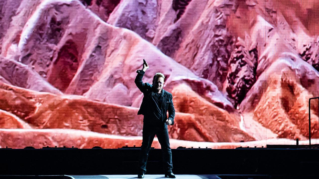Bono of U2 performs at Marvel Stadium on November 15, 2019 in Melbourne, Australia. (Photo by Mackenzie Sweetnam/Getty Images.