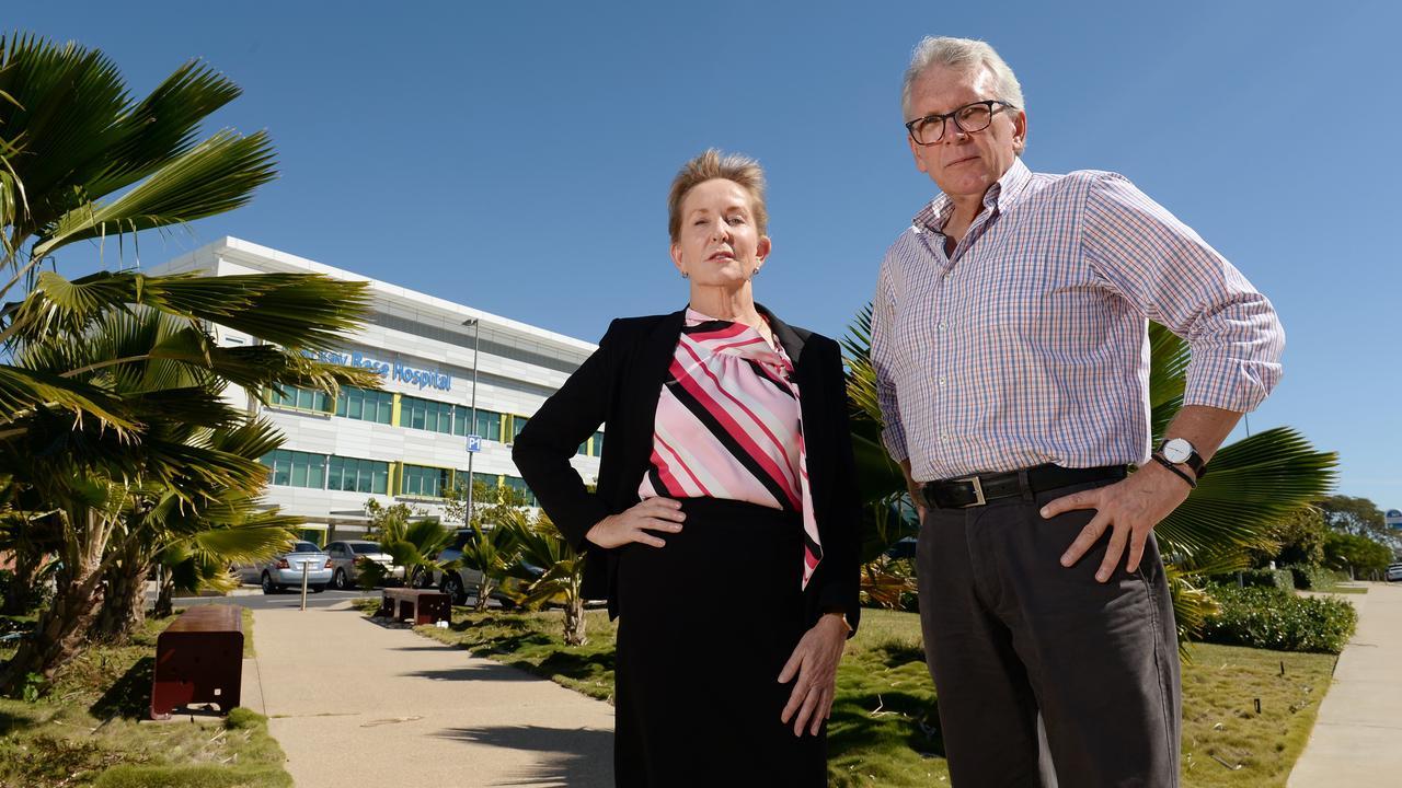 LNP Shadow Health Minister Ros Bates and Caloundra MP Mark McArdle at Mackay Base Hospital