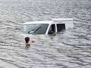 Close call as campervan pulled out of Borumba Dam