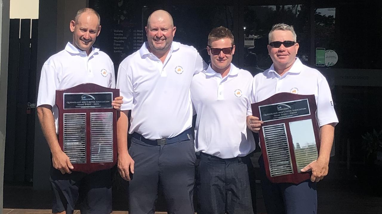 STATE SUCCESS:(L-R)Adam Mollis, Damien Ling, Shaun Antcliffe & Daryl Myles won the 2019 Inter-Association shield for Central Queensland.