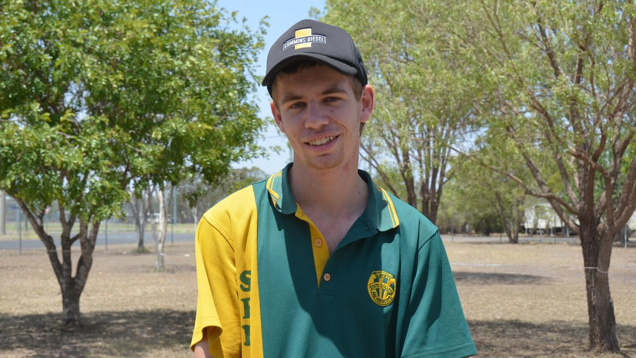 Lauchlan Kemp in the graduating class of 2019 for Burnett State College. Picture: Sam Turner.