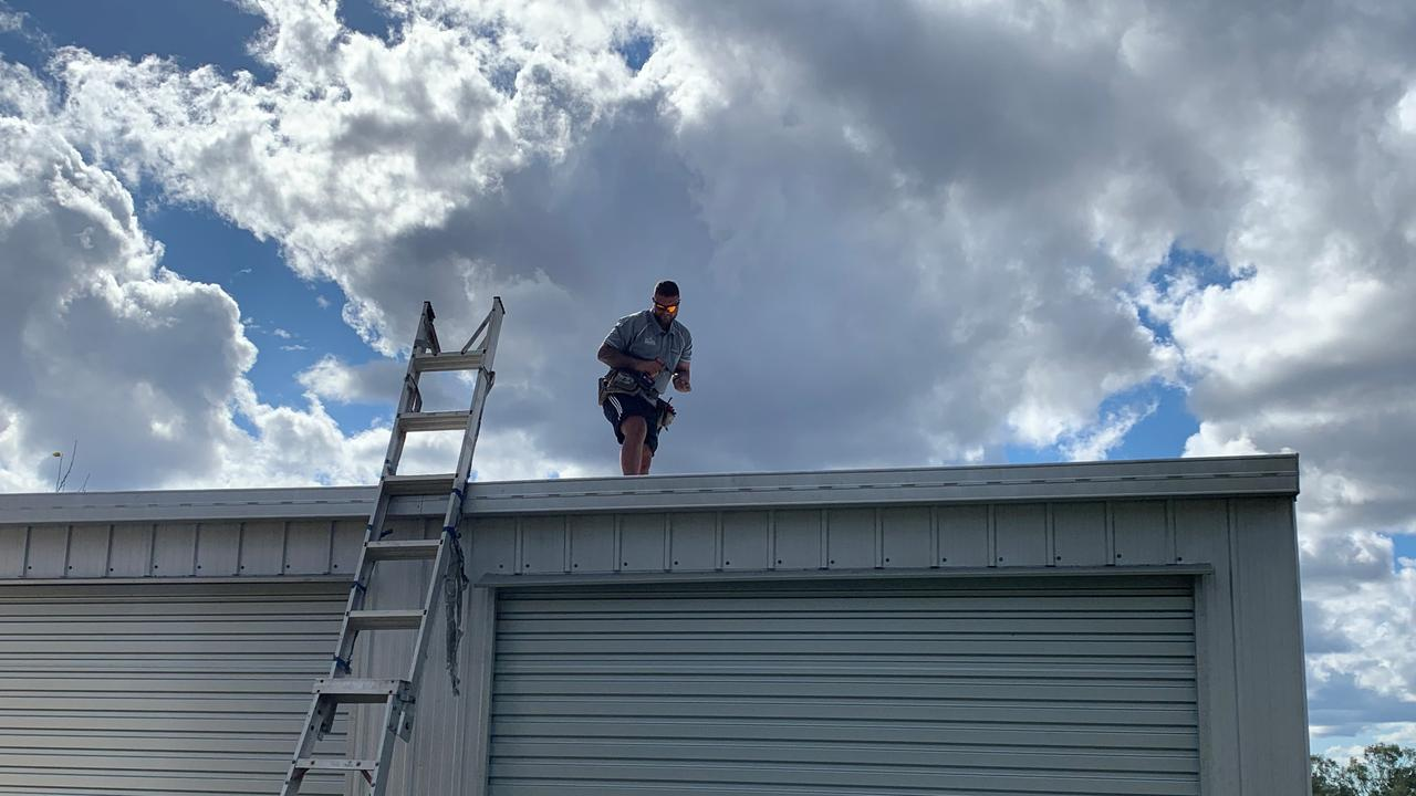 STAY CAUTIOUS: Local roofer, Michael Long reminds people to keep their roof in top shape.