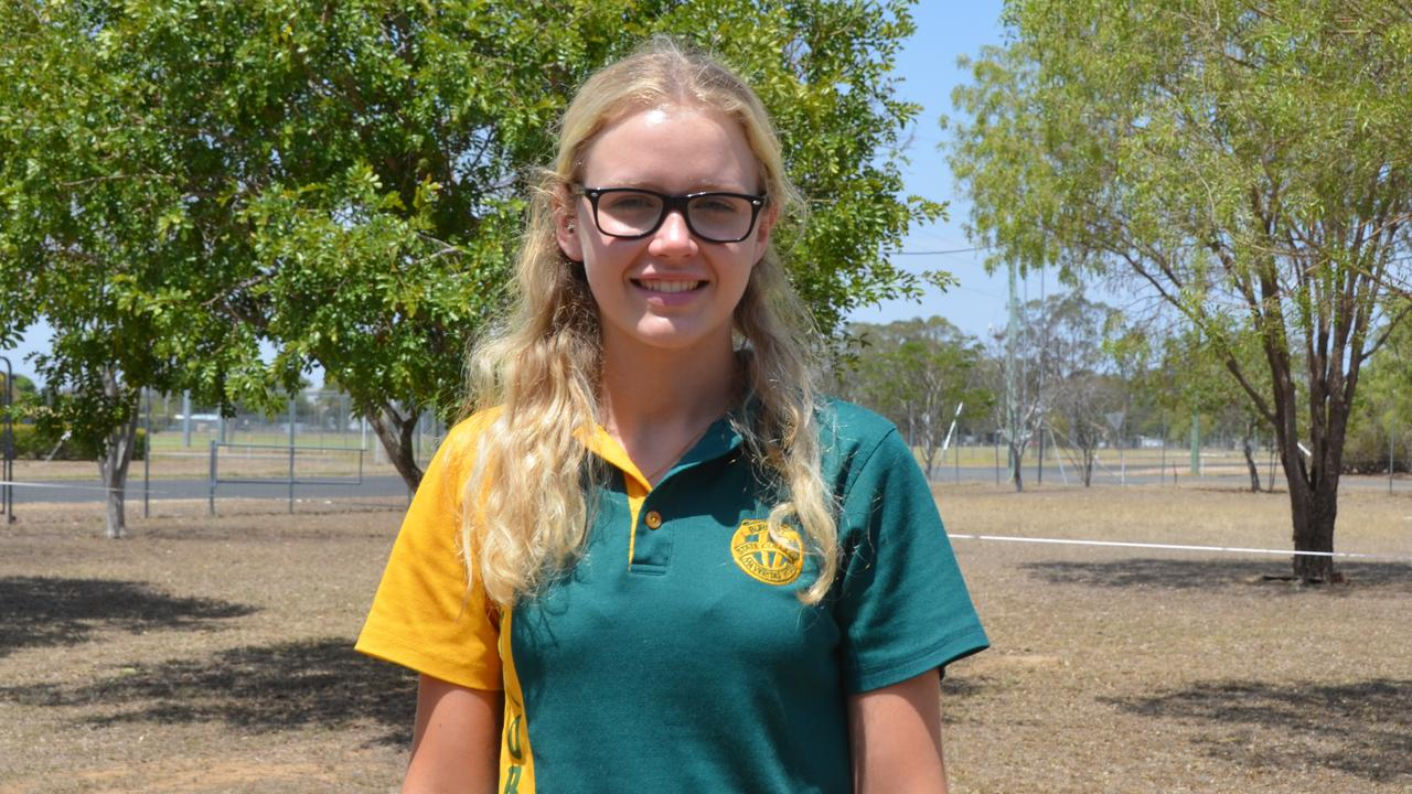 Tarrissa Hill in the graduating class of 2019 for Burnett State College. Picture: Sam Turner.