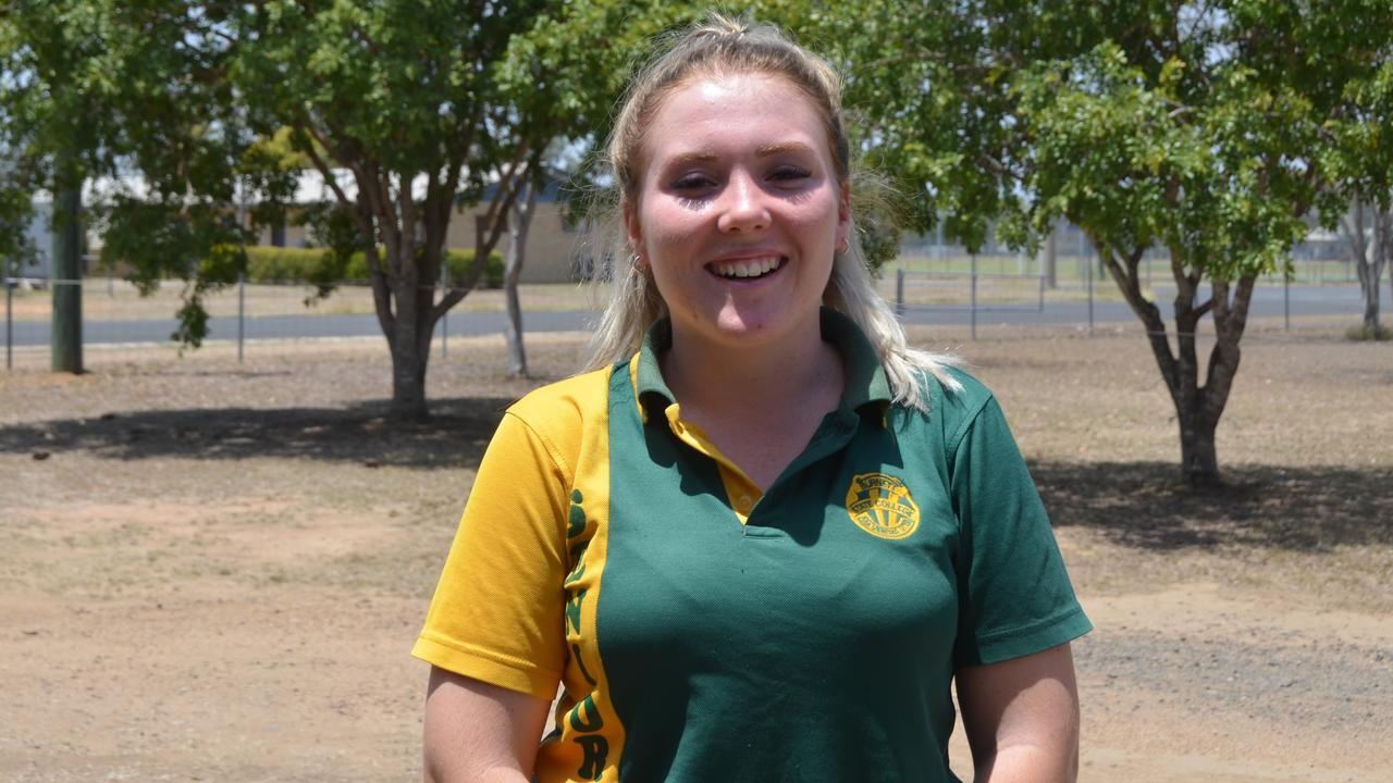 Sophie Scanlan in the graduating class of 2019 for Burnett State College. Picture: Sam Turner.