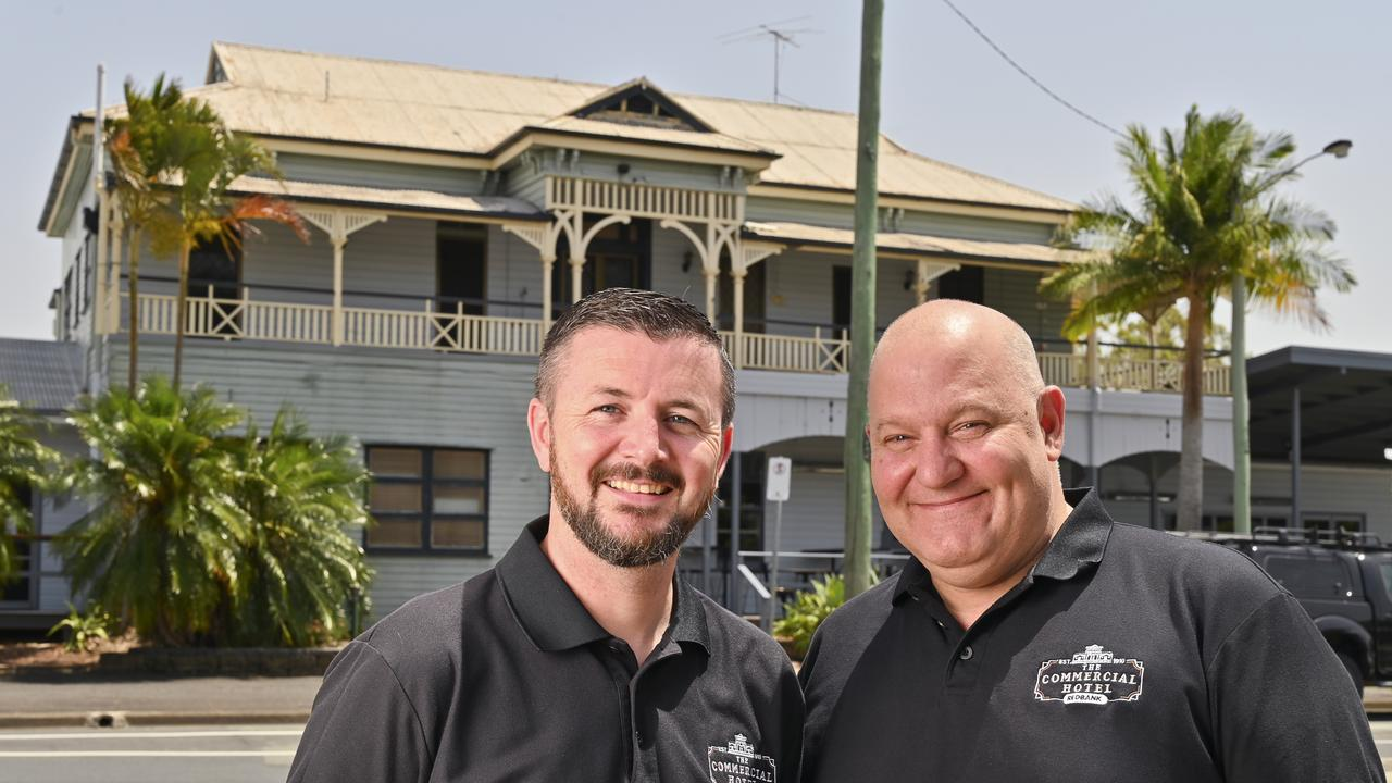 Commercial Hotel owners Gerry Murphy and Phil Cardwell. Picture: Cordell Richardson