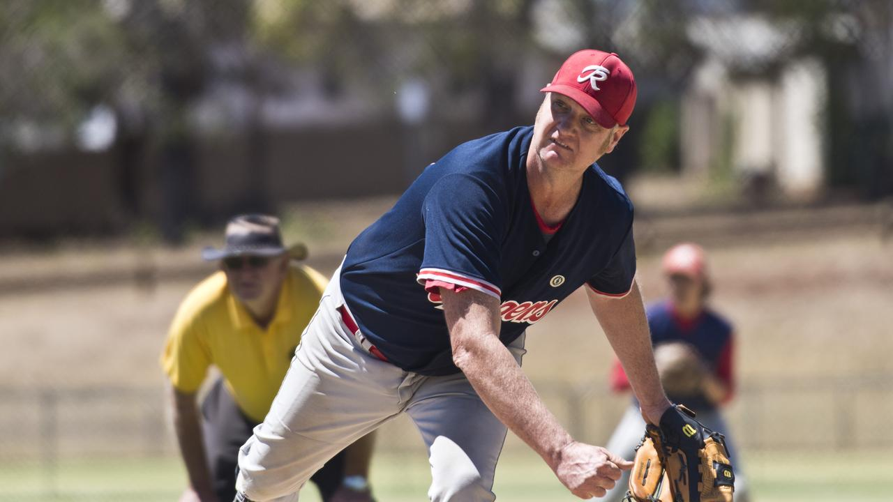 Jonathan Ditchburn delivers a pitch for Toowoomba Rangers. Picture: Kevin Farmer