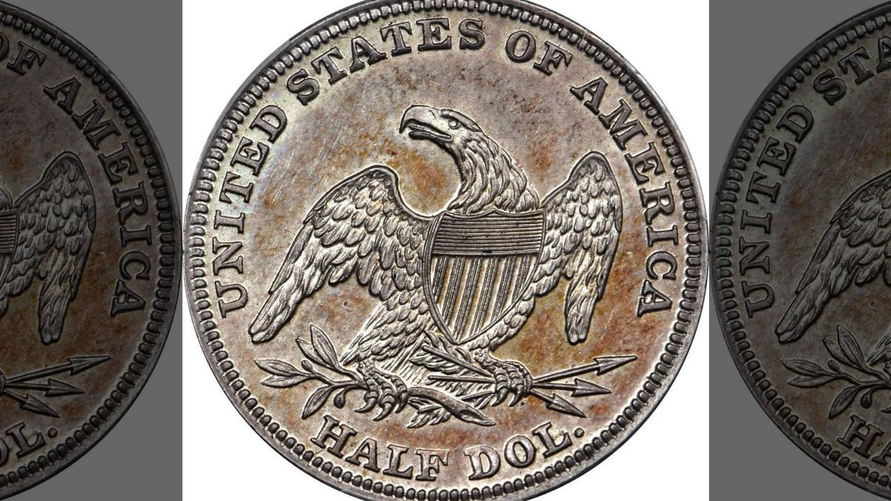 The back of the 1838-O Capped Bust Half Dollar coin. Picture: Stack's Bowers Galleries