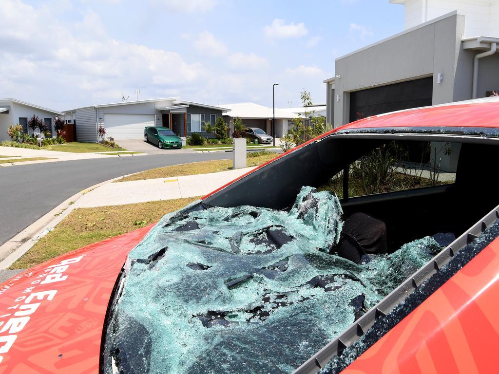 Hail damage in Aura Estate