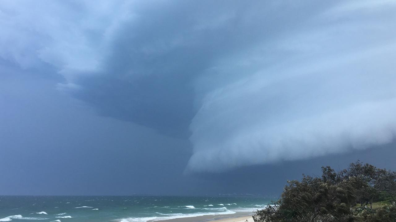 Marie Farrelly at Mudjimba captured this stunning image that passed largely to the south with the beachside village missing most of its wrath.
