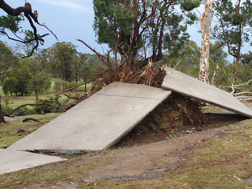 A wild storm on Sunday afternoon caused widespread damage at Headland Golf Club in Buderim.