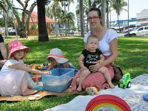 Christy with Jackson, Ivanna and Elsie playing at