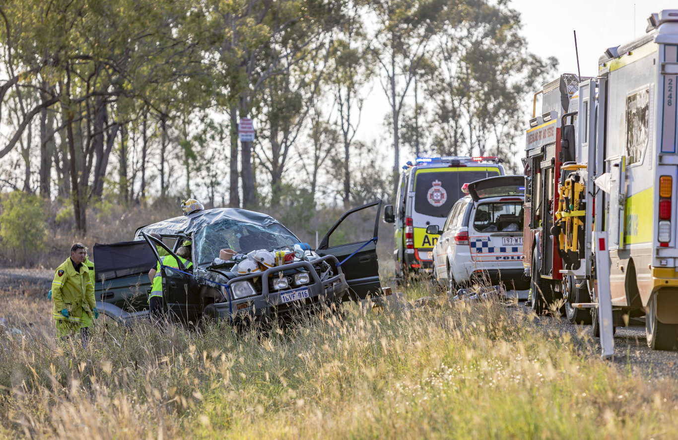 Accident on the Bruce Highway South of Marmor.