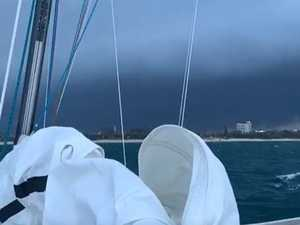 Family caught at sea as wild storm cell lashes Coast