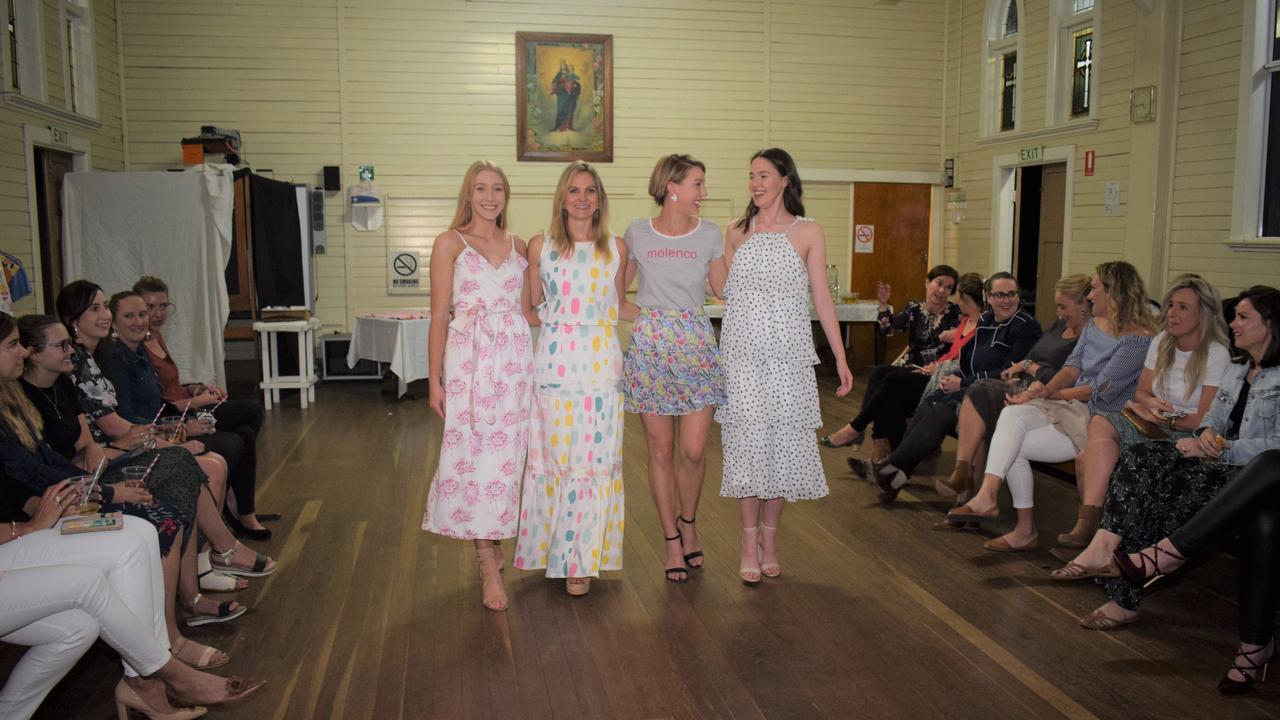 Lauren Fendley, Mel Weller Asha Josland and Tawnie Benecke showcasing four of this season's cutest ensembles at the Meleco Spring launch.