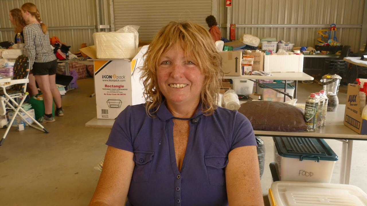 Liz Sarchette spent the night of the Nymboida fire wearing a life jacket for a very good reason.