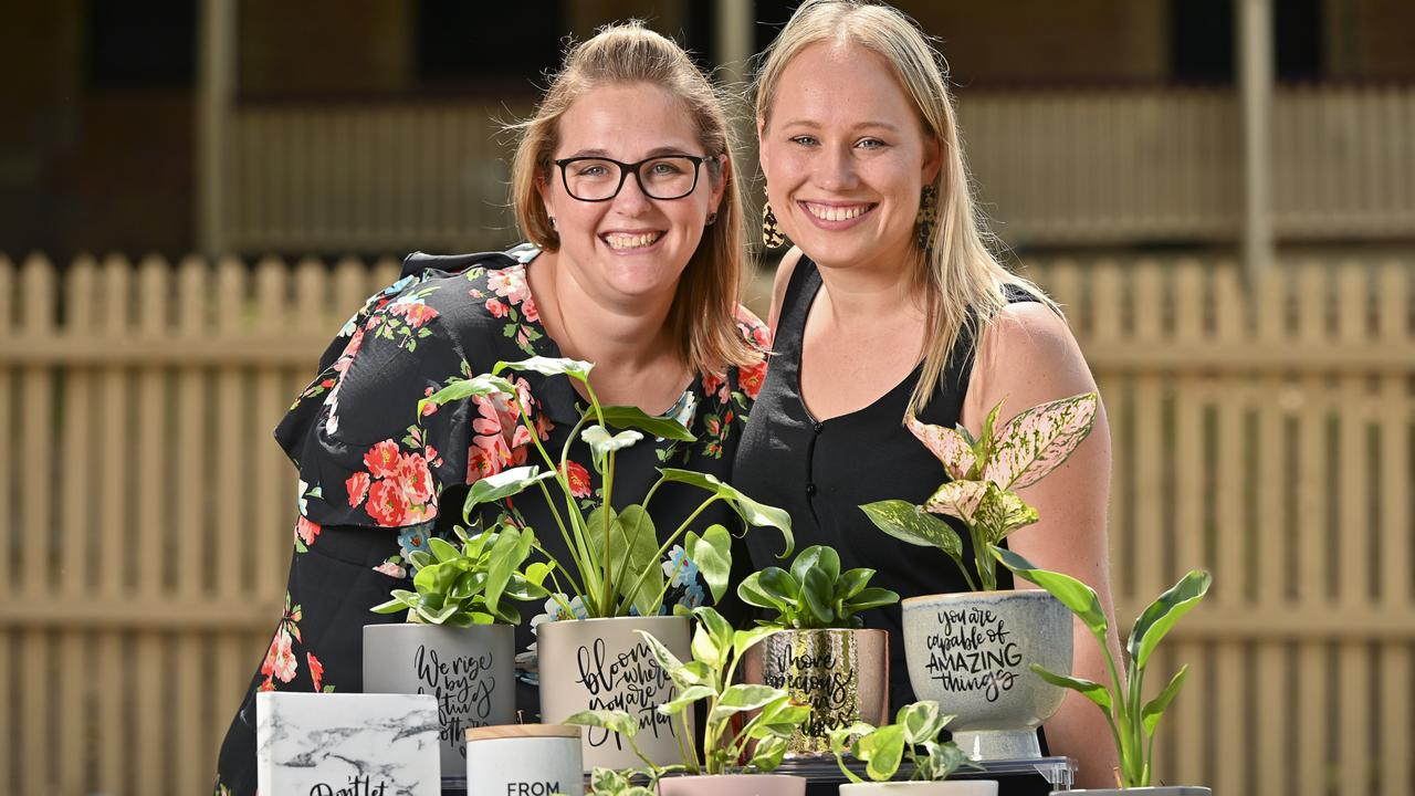 Kerryn Costello with Joanna den Otter of Echo and Bloom ahead of the Ipswich Hospice's Upcoming Christmas Market. Photo: Cordell Richardson