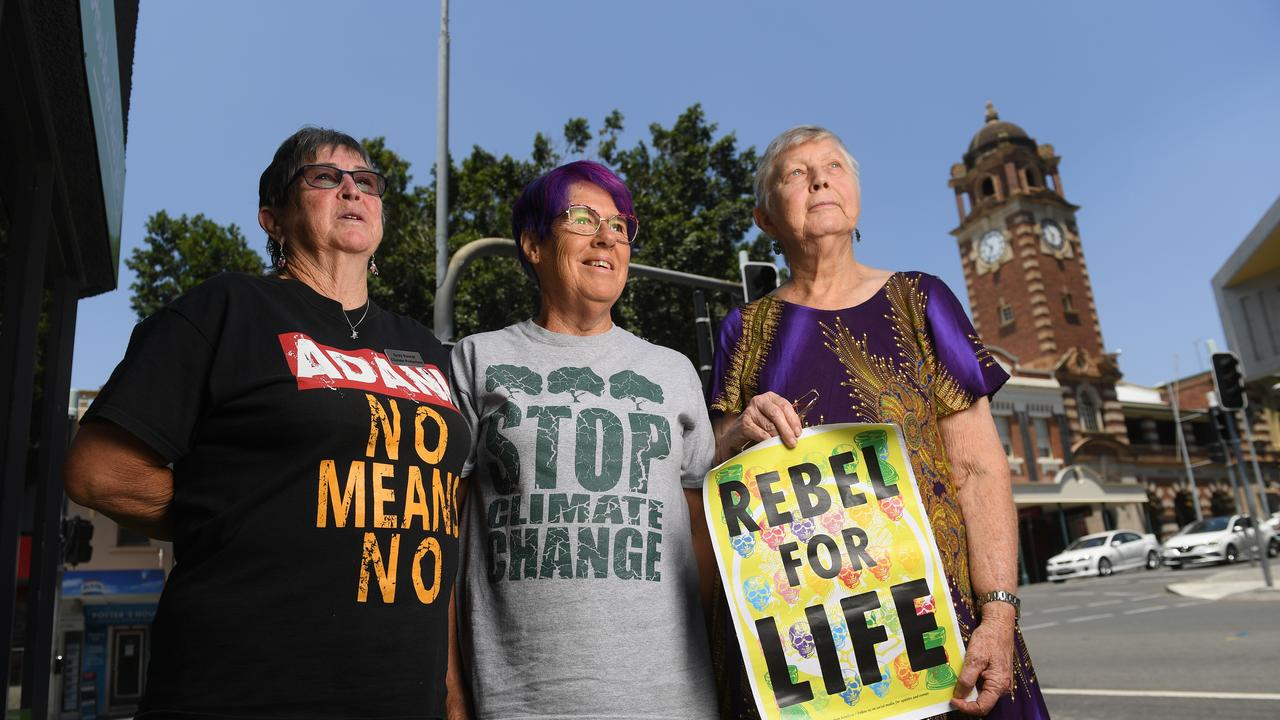 Extinction Rebellion Ipswich branch members Robyn Whale, Vale Wheatley and Dr Clare Rudkin.