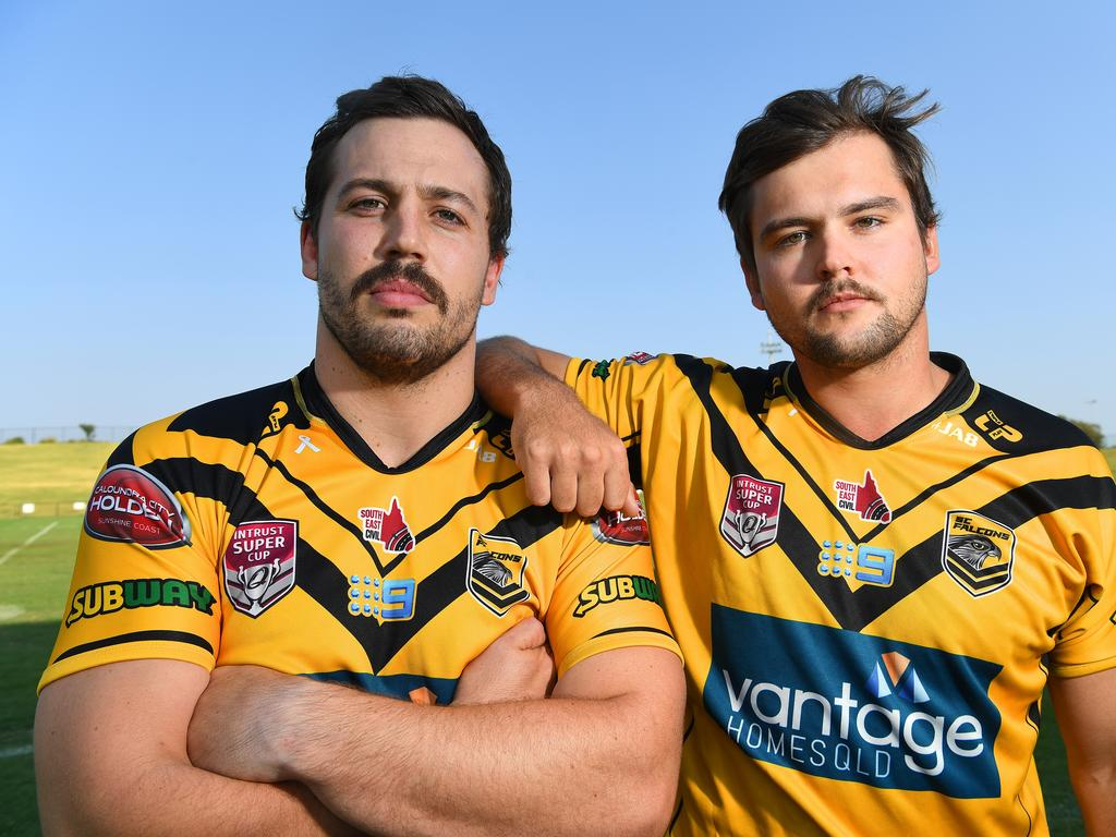 Tom and Louis Geraghty are reunited together at the Sunshine Coast Falcons and are pumped for the season to begin.