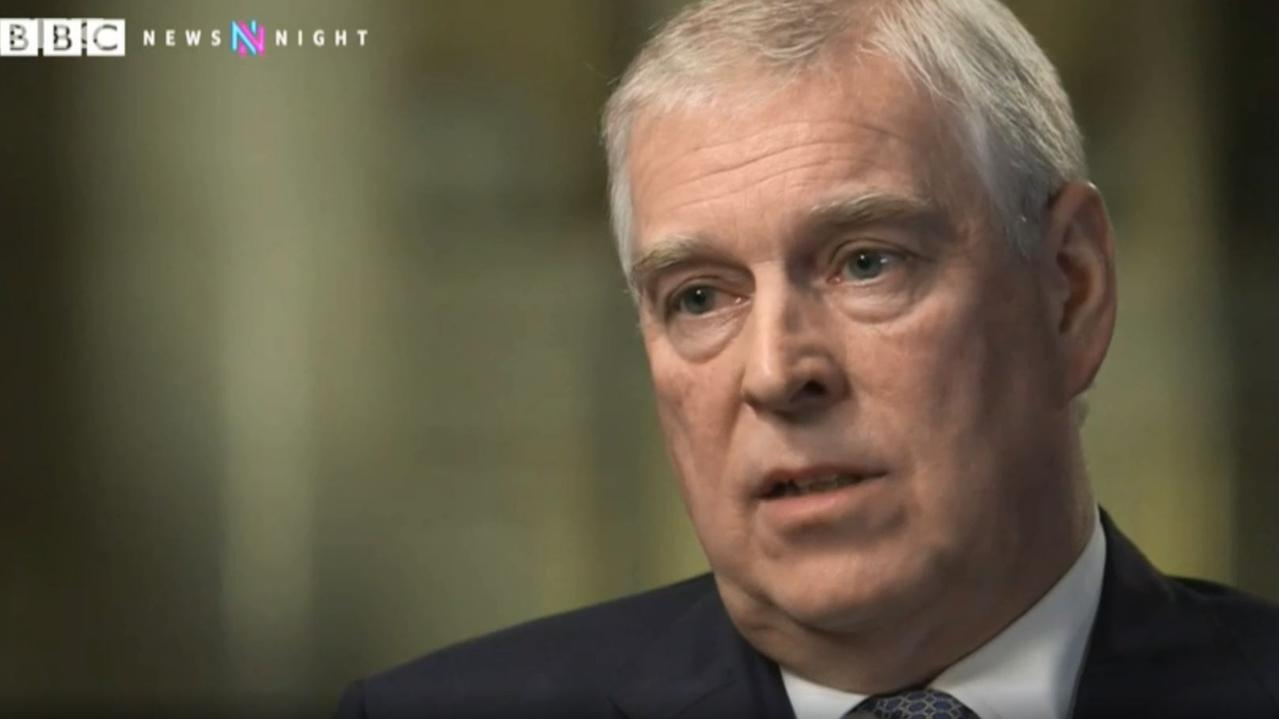 Prince Andrew, The Duke of York, is interviewed by BBC Newsnight's Emily Maitlis over his friendship with Jeffrey Epstein. Picture: BBC