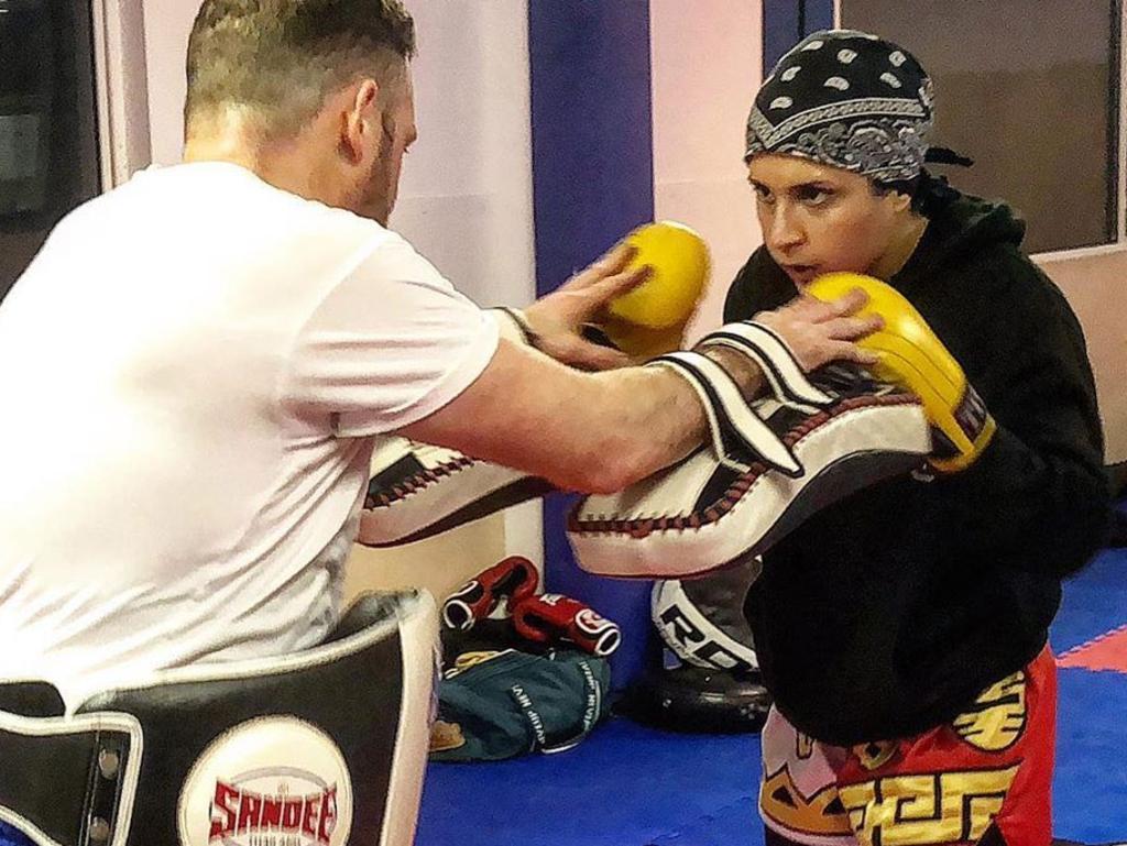 Sai Aletaha in training, posted on Facebook.