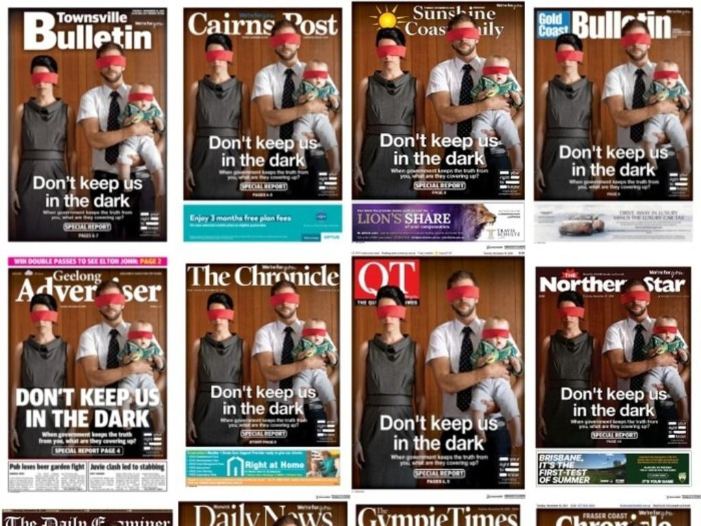 News Corp's regional newspapers have thrown their weight behind the press freedom campaign.